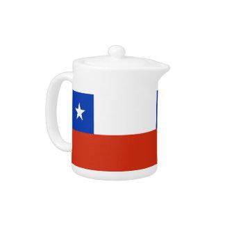Chile Flag Teapot
