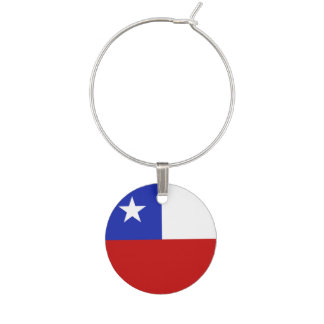 Chile Flag Wine Charm