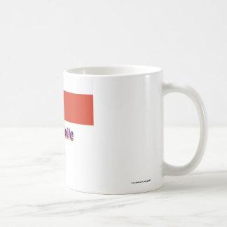 Chile Flag with Name Classic White Coffee Mug