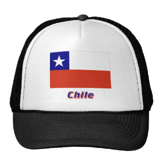 Chile Flag with Name Mesh Hat