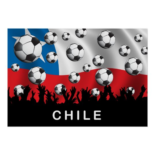 Chile Football Poster
