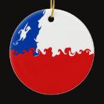 Chile Gnarly Flag Ceramic Ornament