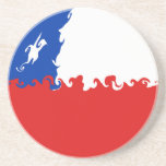 Chile Gnarly Flag Drink Coaster