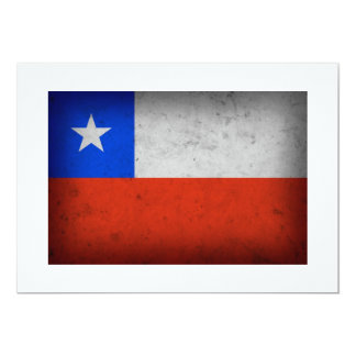 Chile Grunge Flag Card