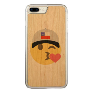 Chile Hat Kiss Emoji Carved iPhone 7 Plus Case