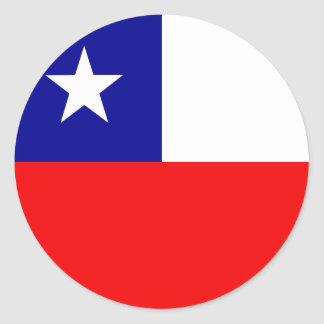 Chile High quality Flag Classic Round Sticker