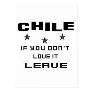 Chile If you don't love it, Leave Postcard