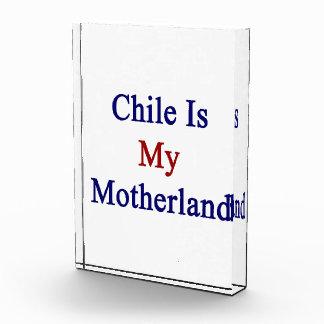 Chile Is My Motherland Acrylic Award