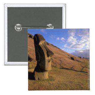 Chile, isla de pascua. Ladera con Moai Pin