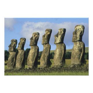 Chile, isla de pascua, Rapa Nui, Ahu Akivi Fotografía