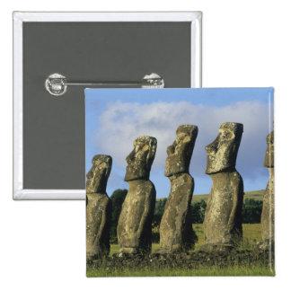 Chile, isla de pascua, Rapa Nui, Ahu Akivi Pin Cuadrado