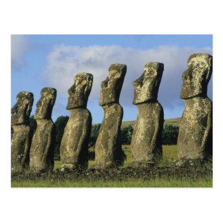 Chile, isla de pascua, Rapa Nui, Ahu Akivi Postal