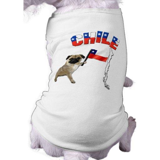 Chile - la camiseta del perro/proveyó de costillas playera sin mangas para perro