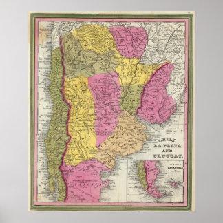 Chile, La Plata y Uruguay Póster