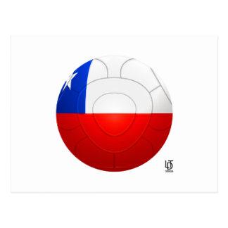 Chile - La Roja Football Postcard