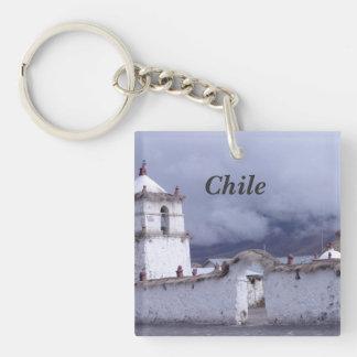 Chile Llavero Cuadrado Acrílico A Una Cara