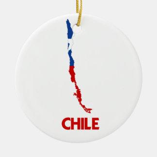 CHILE MAP CERAMIC ORNAMENT