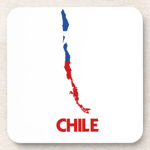 CHILE MAP DRINK COASTERS