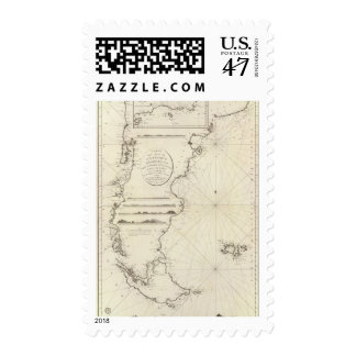 Chile Map Postage