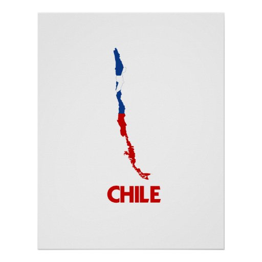 CHILE MAP POSTER