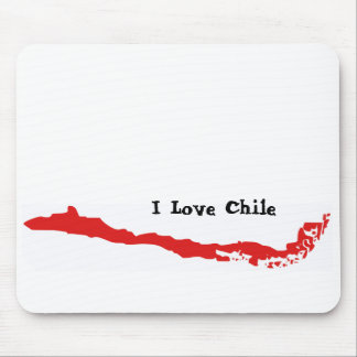 Chile Mapa I, I Love Chile Mouse Pad
