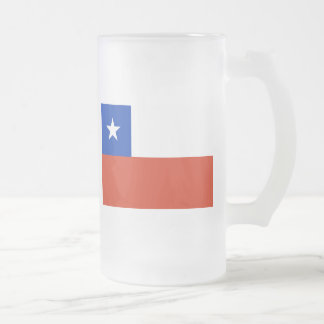 chile 16 oz frosted glass beer mug