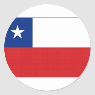 Chile National Flag Classic Round Sticker