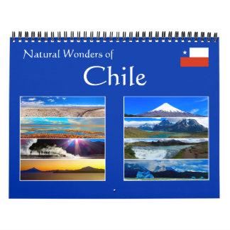 chile natural wonders 2018 calendar
