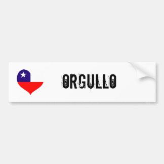 Chile orgullo(pride) bumper sticker