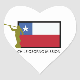 Chile Osorno Mission LDS CTR Heart Sticker