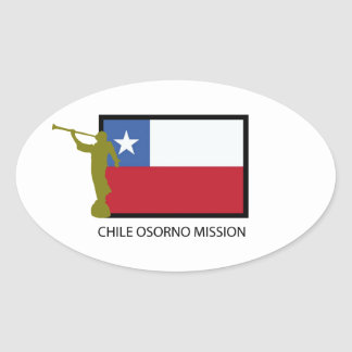 Chile Osorno Mission LDS CTR Oval Sticker