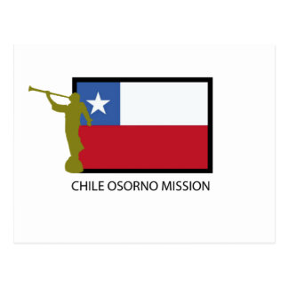 Chile Osorno Mission LDS CTR Postcard
