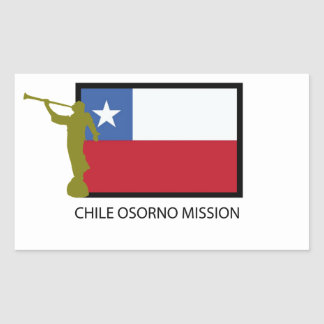 Chile Osorno Mission LDS CTR Rectangular Sticker