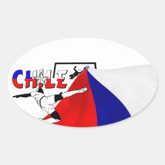 Chile Oval Sticker