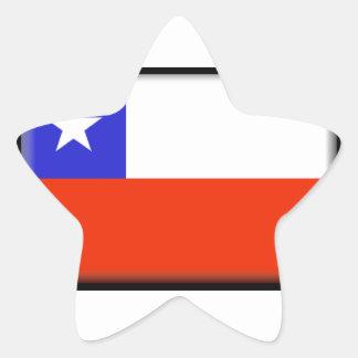 Chile Pegatina En Forma De Estrella