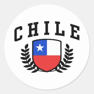 Chile Pegatina Redonda
