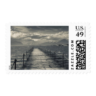 Chile, pier at Puerto Bories Postage