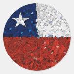 Chile Pintado Pegatina Redonda