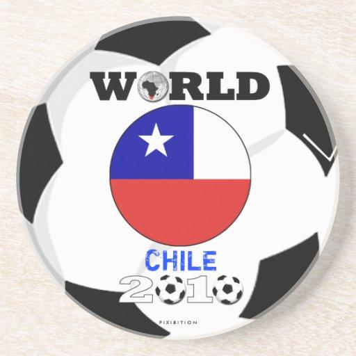 Chile práctico de costa de 2010 mundiales posavasos personalizados