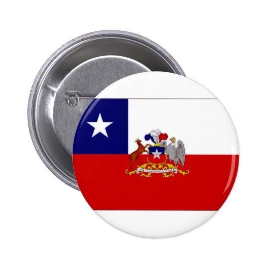 Chile President Flag Pinback Button