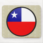 Chile quality Flag Circle Mouse Pad