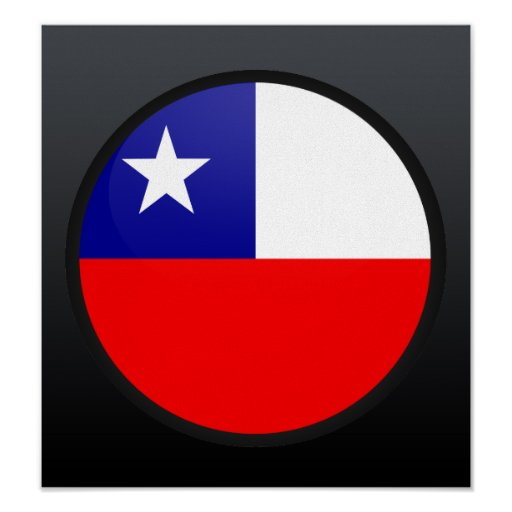 Chile quality Flag Circle Posters