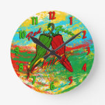 Chile - Red or Green? Round Wall Clock