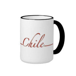 Chile (red script font) mug