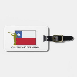 Chile Santiago East Mission LDS CTR Bag Tag