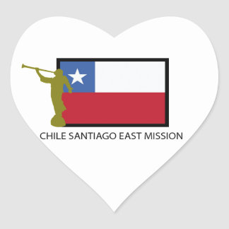 Chile Santiago East Mission LDS CTR Heart Sticker