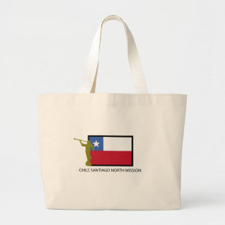 Chile Santiago North Mission LDS CTR Large Tote Bag
