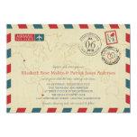 CHILE / SEATTLE WA USA Airmail   Wedding 5x7 Paper Invitation Card