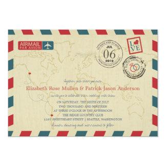 CHILE / SEATTLE WA USA Airmail | Wedding Card