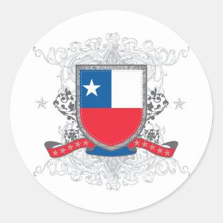 Chile Shield Classic Round Sticker